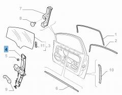 Alzacristallo elettrico anteriore sinistro per Fiat Linea