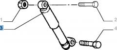 Ammortizzatore posteriore per Fiat Professional Strada