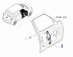 Alzacristallo anteriore sinistro per Fiat 500L