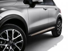 Finiture laterali beige per portiere per Fiat 500X
