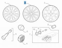 Cerchio in lega 7J x 17'' ET 45 per Fiat 124 Spider
