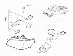 Faro anteriore destro per Fiat Professional Strada