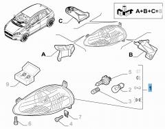 Faro anteriore sinistro per Fiat e Fiat Professional