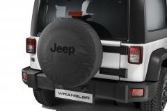 Copri ruota di scorta con logo Jeep nero