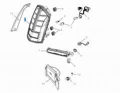Fanale posteriore (posizione, stop e direzione) per Lancia Thema