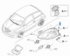 Faro anteriore sinistro per Lancia Ypsilon