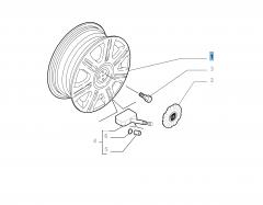 Cerchio in lega 6J x 15'' H2 ET 40 per Fiat e Fiat Professional
