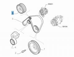 Tendicinghia fisso per Alfa Romeo