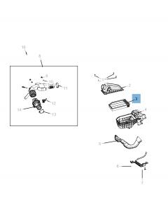 Filtro aria motore per Jeep Wrangler, Gladiator