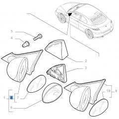 Specchietto retrovisore esterno destro elettrico per Alfa Romeo GT