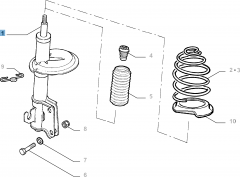 Ammortizzatore anteriore per Fiat e Fiat Professional
