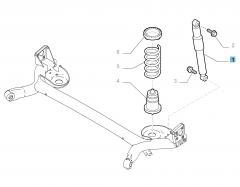 Ammortizzatore posteriore per Fiat 500