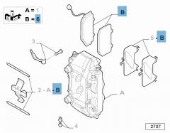 Pastiglia freno disco anteriore (Set 4 pezzi) per Stelvio
