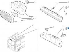 Fanale posteriore terzo stop supplementare per Fiat Professional Scudo