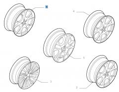 Cerchio in lega 7J x 17'' ET 40.5 per Alfa Romeo 147