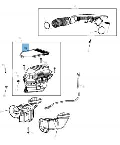 Filtro aria motore per Lancia Thema, Dodge