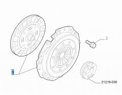 Kit frizione (disco e spingidisco) per Fiat e Fiat Professional