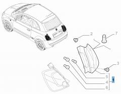 Fanale posteriore destro fisso per Fiat 500