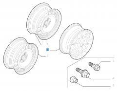 Cerchio in lega 7J x 16'' per Fiat Professional Scudo