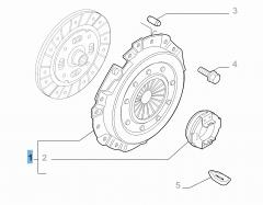 Kit frizione (spingidisco e cuscinetto reggispinta) per Fiat Professional Ducato