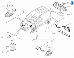 Fanale posteriore terzo stop per Fiat e Fiat Professional