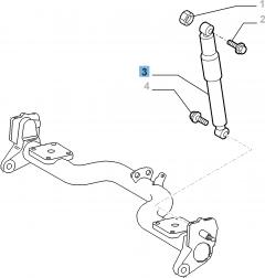 Ammortizzatore posteriore per Fiat Doblo