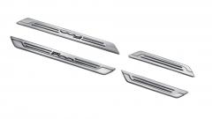 Battitacco in acciaio con stampa logo per Fiat 500X
