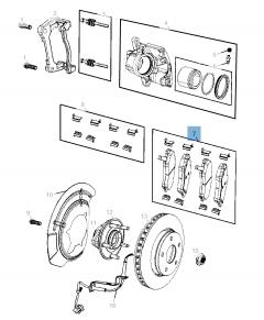Pastiglia freno disco anteriore (Set 4 pezzi) per Compass LHD
