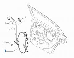 Alzacristallo posteriore sinistro per Fiat e Fiat Professional
