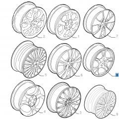 Cerchio in lega 7J x 17'' per Alfa Romeo 147