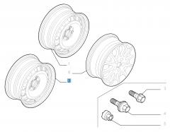 Cerchio in acciaio da 7J x 16'' per Fiat Professional Scudo