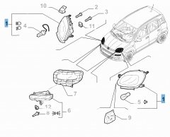 Faro anteriore destro per Fiat e Fiat Professional