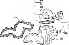 Pompa acqua con guarnizione