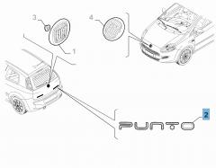 Sigla modello Punto posteriore per Fiat