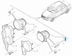 Fendinebbia per Fiat Professional Strada