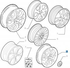 Cerchio in lega 6.5J x 15'' per Alfa Romeo 147