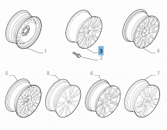 Cerchio in lega 7J x 16'' H2 per Fiat e Fiat Professional