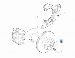 Disco freno anteriore per Tipo Egea