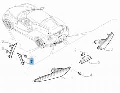 Indicatore di direzione posteriore laterale sinistro per Alfa Romeo 4C