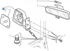Specchietto retrovisore esterno sinistro manuale per Fiat Professional Scudo