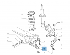 Braccio oscillante sinistro per Fiat Professional Ducato