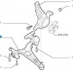 Braccio oscillante sinistro per Fiat Professional Scudo