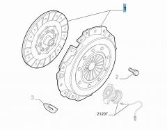 Kit frizione (disco e spingidisco) per Alfa Romeo 159