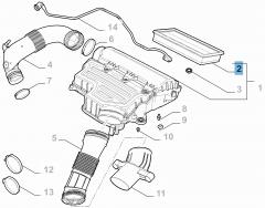 Filtro aria motore per 500X, Tipo e Jeep Renegade