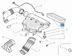 Filtro aria motore per CC1.3 Benzina, PHEV e BEV