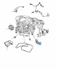 Tendicinghia regolabile per Jeep