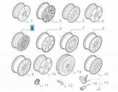 Cerchio in lega 8J x 18'' per Alfa Romeo