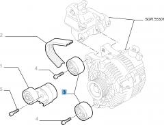 Tendicinghia fisso per Fiat Professional Scudo