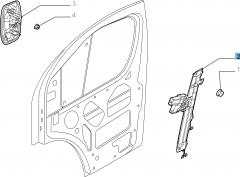 Alzacristallo elettrico anteriore sinistro per Fiat Professional Ducato