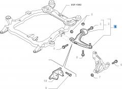 Braccio oscillante sinistro per Fiat e Fiat Professional